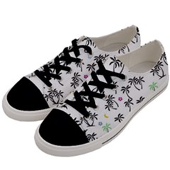Tropical Pattern Men s Low Top Canvas Sneakers by Valentinaart