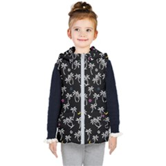 Tropical Pattern Kid s Hooded Puffer Vest