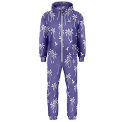 Tropical Pattern Hooded Jumpsuit (men)