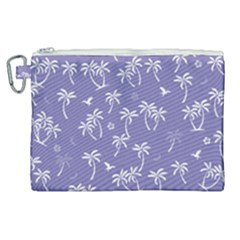 Tropical Pattern Canvas Cosmetic Bag (xl) by Valentinaart