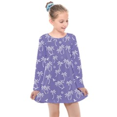 Tropical Pattern Kids  Long Sleeve Dress