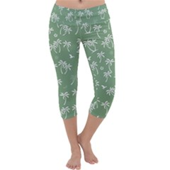 Tropical Pattern Capri Yoga Leggings by Valentinaart