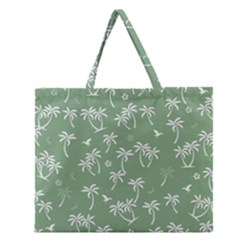 Tropical Pattern Zipper Large Tote Bag by Valentinaart