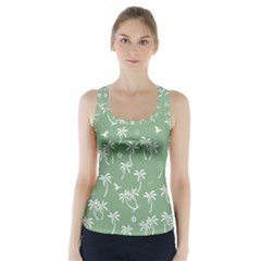 Tropical Pattern Racer Back Sports Top by Valentinaart