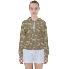 Tropical Pattern Women s Tie Up Sweat