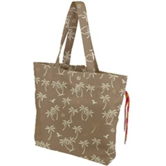 Tropical Pattern Drawstring Tote Bag by Valentinaart