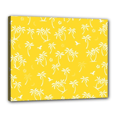 Tropical Pattern Canvas 20  X 16  by Valentinaart