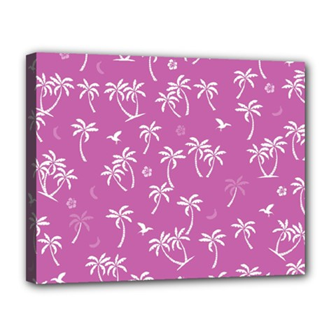 Tropical Pattern Canvas 14  X 11  by Valentinaart
