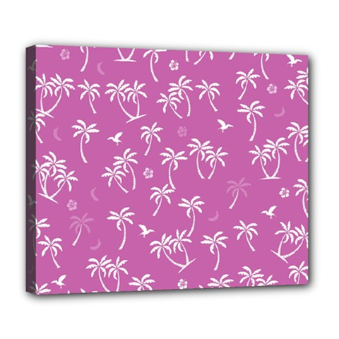 Tropical Pattern Deluxe Canvas 24  X 20   by Valentinaart