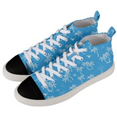 Tropical Pattern Men s Mid Top Canvas Sneakers by Valentinaart