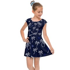 Tropical Pattern Kids Cap Sleeve Dress by Valentinaart
