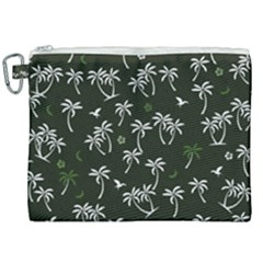 Tropical Pattern Canvas Cosmetic Bag (xxl)