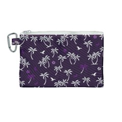 Tropical Pattern Canvas Cosmetic Bag (medium)