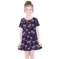 Tropical Pattern Kids  Simple Cotton Dress by Valentinaart