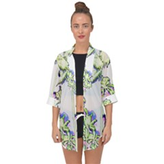Palm Trees Tropical Beach Scenes Coastal Sketch Colored Neon Open Front Chiffon Kimono by CrypticFragmentsColors