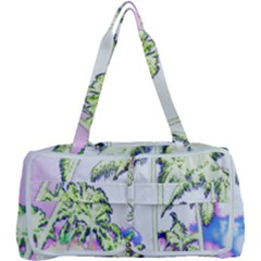 Palm Trees Tropical Beach Scenes Coastal Sketch Colored Neon Multi Function Bag	 by CrypticFragmentsColors