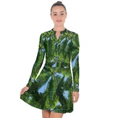 Paradise Under The Palms Long Sleeve Panel Dress