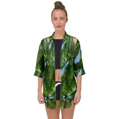 Paradise Under The Palms Open Front Chiffon Kimono by CrypticFragmentsColors