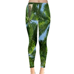 Paradise Under The Palms Inside Out Leggings by CrypticFragmentsColors