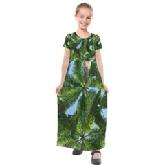 Paradise Under The Palms Kids  Short Sleeve Maxi Dress