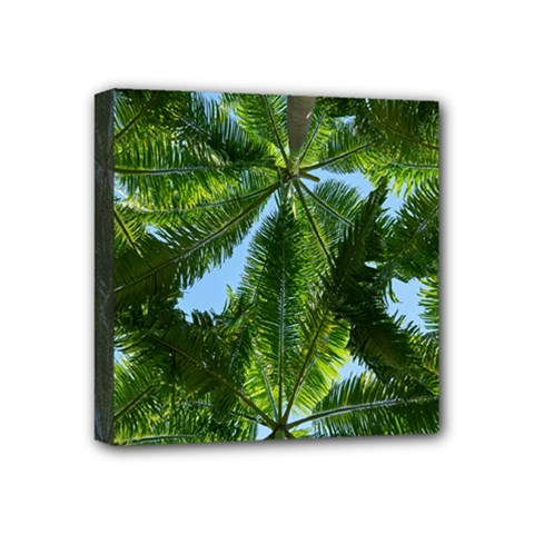 Paradise Under The Palms Mini Canvas 4  X 4  by CrypticFragmentsColors