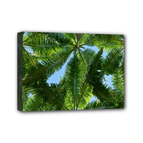 Paradise Under The Palms Mini Canvas 7  X 5  by CrypticFragmentsColors