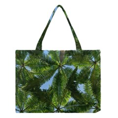 Paradise Under The Palms Medium Tote Bag by CrypticFragmentsColors