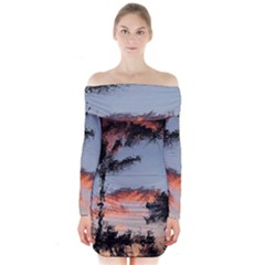 Beautiful Tropics Painting By Kiekie Strickland  Long Sleeve Off Shoulder Dress by flipstylezdes