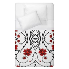 Beautiful Red Flowers Seamless Duvet Cover (single Size)