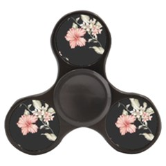 Beautiful Tropical Black Pink Florals  Finger Spinner by flipstylezdes