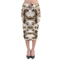 Gorgeous Brown Rustic Design By Kiekie Strickland Midi Pencil Skirt