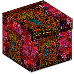 Exotic Water Colors Vibrant  Storage Stool 12   by flipstylezdes