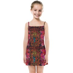 Exotic Water Colors Vibrant  Kids Summer Sun Dress