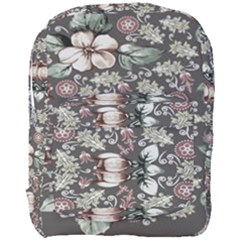 Seamless Pink Green And White Florals Peach Full Print Backpack by flipstylezdes