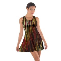 Snake In The Grass Red And Black Seamless Design Cotton Racerback Dress