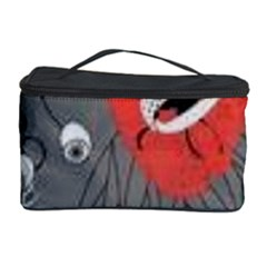 Red Poppy Flowers On Gray Background  Cosmetic Storage Case