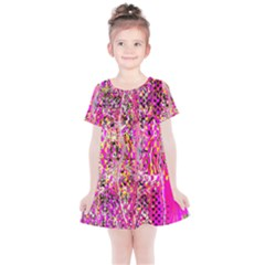 Hot Pink Mess Snakeskin Inspired  Kids  Simple Cotton Dress