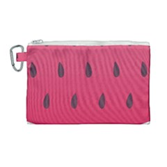 Watermelon Fruit Summer Red Fresh Canvas Cosmetic Bag (large) by Nexatart