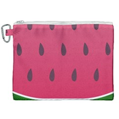 Watermelon Fruit Summer Red Fresh Canvas Cosmetic Bag (xxl)