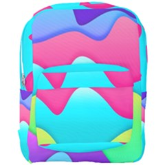 Lines Curves Colors Geometric Lines Full Print Backpack