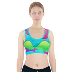 Lines Curves Colors Geometric Lines Sports Bra With Pocket by Nexatart