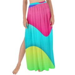 Lines Curves Colors Geometric Lines Maxi Chiffon Tie Up Sarong
