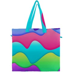 Lines Curves Colors Geometric Lines Canvas Travel Bag by Nexatart