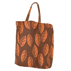 Pattern Leaf Plant Decoration Giant Grocery Tote