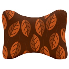 Pattern Leaf Plant Decoration Velour Seat Head Rest Cushion