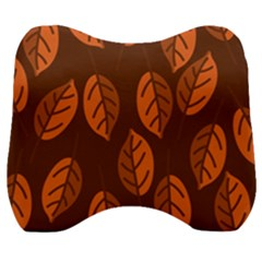 Pattern Leaf Plant Decoration Velour Head Support Cushion