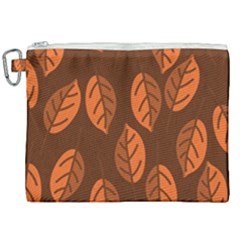 Pattern Leaf Plant Decoration Canvas Cosmetic Bag (xxl) by Nexatart