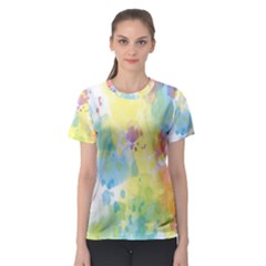Abstract Pattern Color Art Texture Women s Sport Mesh Tee