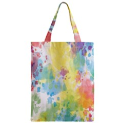 Abstract Pattern Color Art Texture Zipper Classic Tote Bag