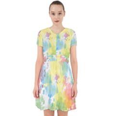 Abstract Pattern Color Art Texture Adorable In Chiffon Dress